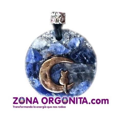 ORGO COLLARES - GATO LUNA AZUL